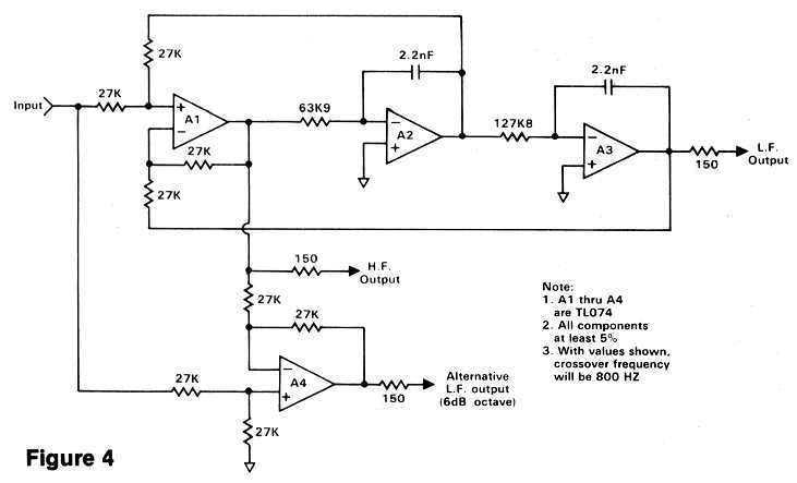 spectrum analyzer and equalizer designsfigure 4 electronic crossover