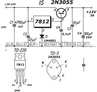 2n3055 Power Supply on led circuits