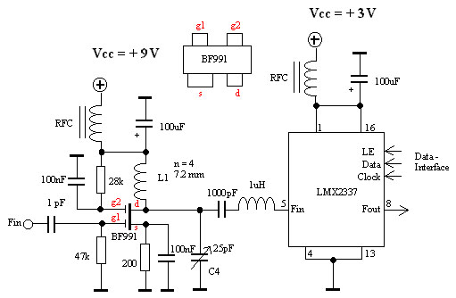 Frequency Counter Preamplifier Circuit : Frequency counter