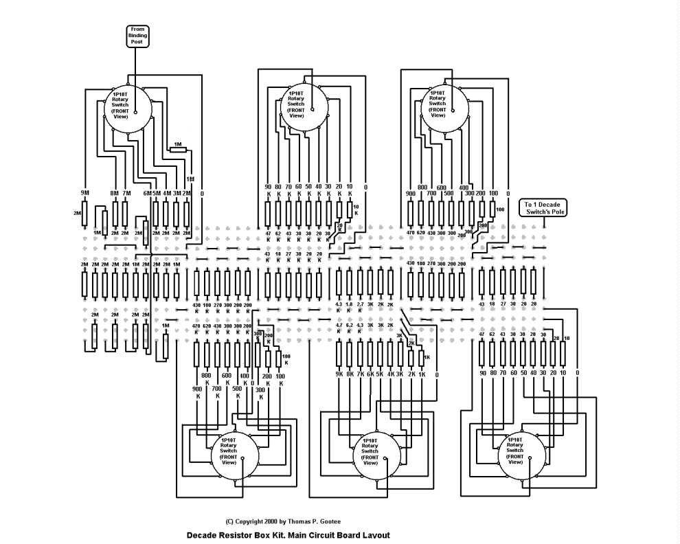 resistor decade box schematic  plans  gootee systems